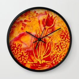 Happy flower Wall Clock