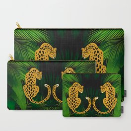 Jungle Exotic Tropical Leopards Carry-All Pouch