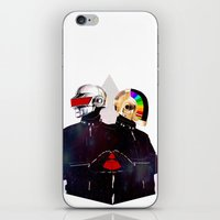 daft punk iPhone & iPod Skins featuring Daft Punk by omurizer