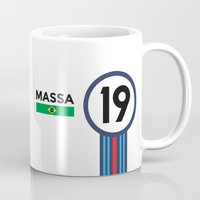 f1 Mugs featuring F1 2015 - #19 Massa by MS80 Design