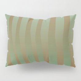 Brown Green Color Pillow Sham