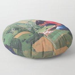Hide and seek - Land Floor Pillow