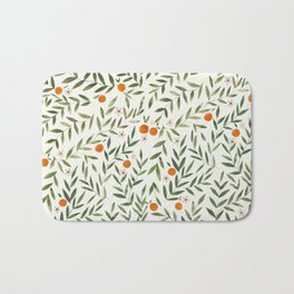 Oranges Foliage Bath Mat