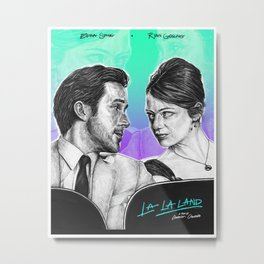 La La Land - Movie Inspired Art Metal Print