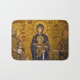 Mosaic Mary and Jesus Bath Mat