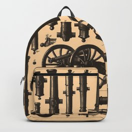 Vintage Cannon & Artillery Diagrams (1907) Backpack