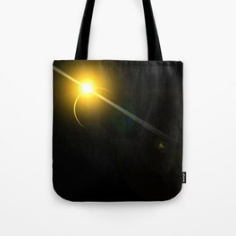 Lens flare sun eclipse Tote Bag