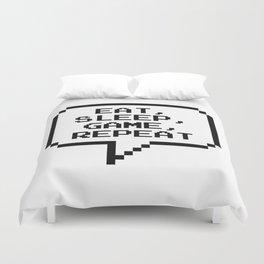 Eat Sleep Game Repeat Duvet Cover