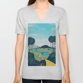 Follow the yellow brick road Unisex V-Neck