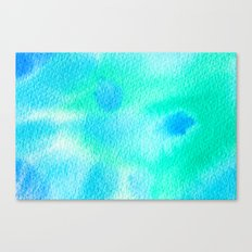 Beautiful Blue Turquoise Watercolor Canvas Print