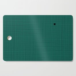 Green and Black Grid - Something's missing Cutting Board