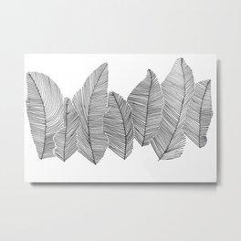 drawn feathers Metal Print