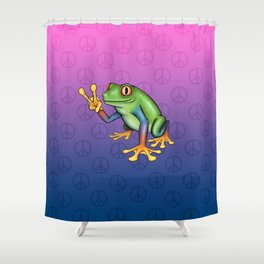 Peace Frog Shower Curtain