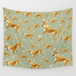 Ginger dingo pattern Wall Tapestry