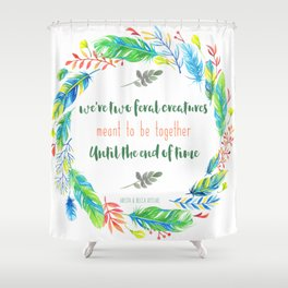 Two Feral Creatures Shower Curtain