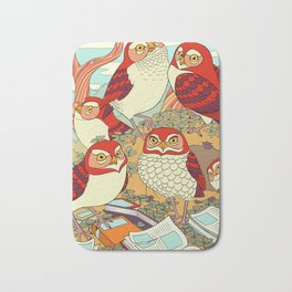 Burrowing Owl Family Bath Mat