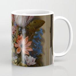 """Ambrosius Bosschaert the Elder """"A still life of flowers in a glass beaker"""" Coffee Mug"""