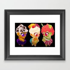 Cupcake Girls Framed Art Print