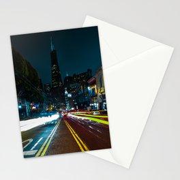 Transamerica Building at Night Stationery Cards