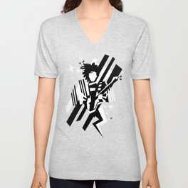 Ghost of the prince - black and white Unisex V-Neck