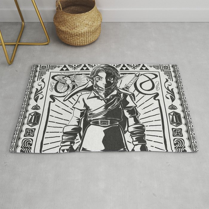 Legend of Zelda - Epic Link Vintage Geek Line Artly Rug
