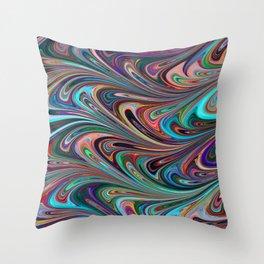 Splendid Swirls Throw Pillow