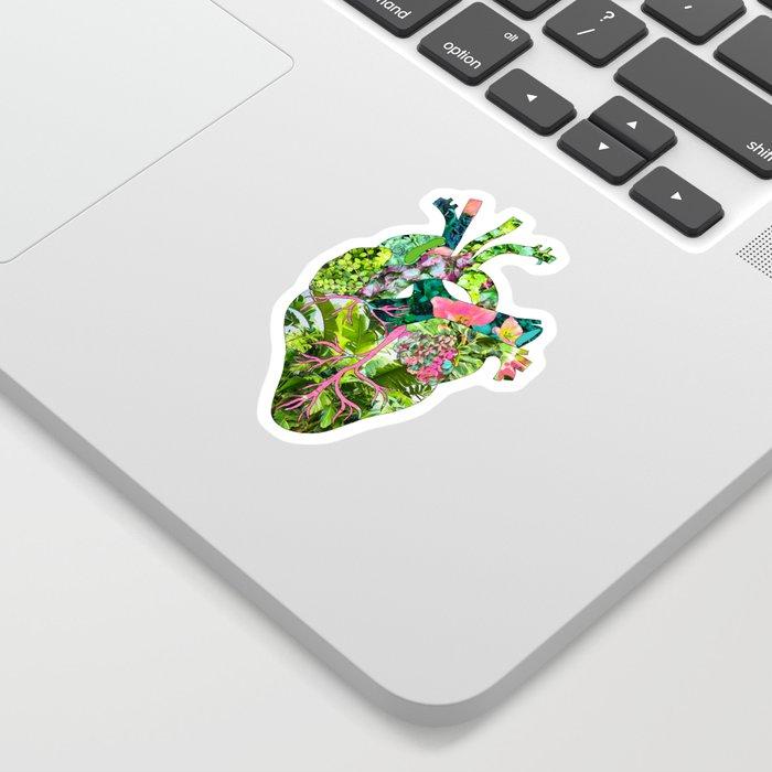 Botanical Heart Mint Sticker