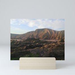 SANDYMOUTH BEACH SUMMER SOLSTICE NORTH CORNWALL Mini Art Print