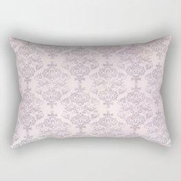 Rose Grey Pastel Damask Watercolor Pattern Rectangular Pillow