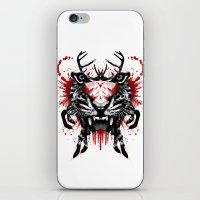 predator iPhone & iPod Skins featuring Predator by Enkel Dika