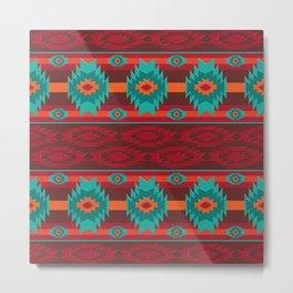 Southwestern navajo pattern. Metal Print