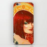 klimt iPhone & iPod Skins featuring KLIMT GIRL by Lorena Carvalho