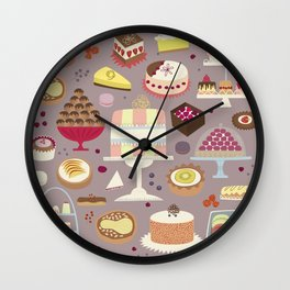 Patisserie Cakes and Good Things Wall Clock