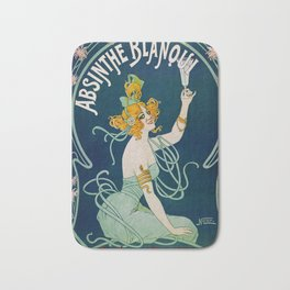 Vintage Absinthe Blanqui Ad Bath Mat