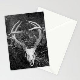 Deer Skull Black & White Stationery Cards