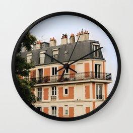 paris house Wall Clock