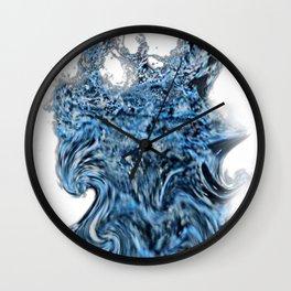 Blue water art Wall Clock