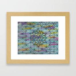 Bohemian Treasure Flower of Life Mandala Framed Art Print