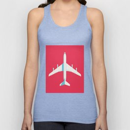 707 Passenger Jet Airliner Aircraft - Crimson Unisex Tank Top
