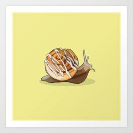 Cinnamon Bun Snail Art Print