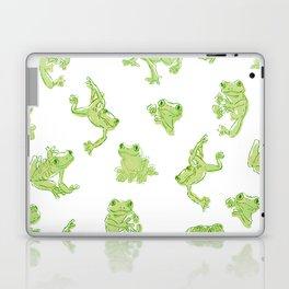 Froggy Frog large green Laptop & iPad Skin
