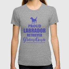 Proud Labrador Retriever Grandma pu T-shirt