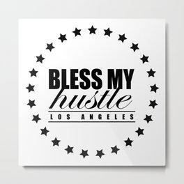 Bless My Hustle Official Logo Metal Print