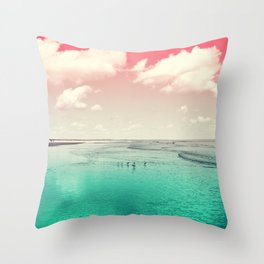 Cumberland birds #watermelon #version by #Bizzartino Throw Pillow