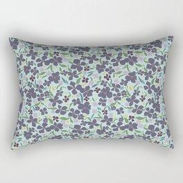 Flower Meadow - Purple Rectangular Pillow