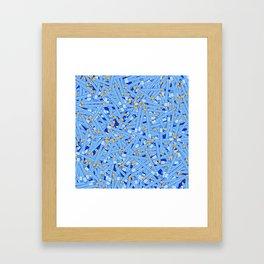 Bedtime Stories BLUE / Cartoon pencil pattern Framed Art Print