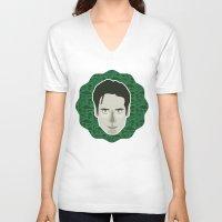 mulder V-neck T-shirts featuring Fox Mulder by Kuki