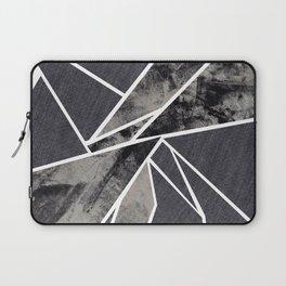 black and white flower Laptop Sleeve