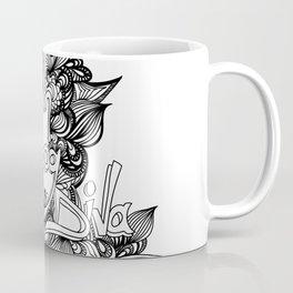 down dog diva black & white Coffee Mug