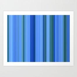 Blue Mishap Art Print